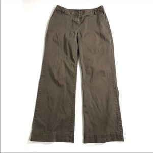Boden Pants Trousers Brown Size 12 Flare Wide Leg
